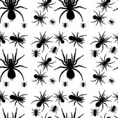 A seamless design with spiders — Stock Vector