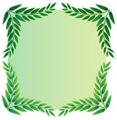A leafy template — Stock Vector