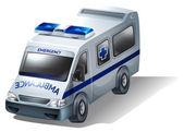 An emergency ambulance — Stock Vector