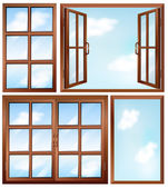 Desenhos de janela diferente — Vetorial Stock