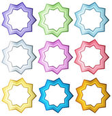 Colorful set of stars — Stock Vector