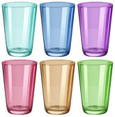 Clear drinking glasses — Stock Vector