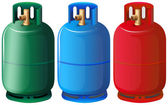 Gas tanks — Stock Vector