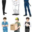 Different male professions — Stock Vector
