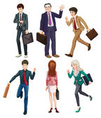 Business-minded people — Stock Vector