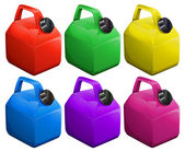 Colorful gas containers — Stockvektor