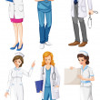 Doctors and nurses — Stock Vector