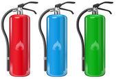 Fire extinguishers — Stock Vector