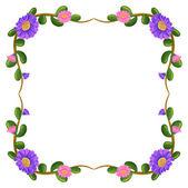 A floral border — Stock Vector