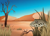 A reptile in the dessert — Stock Vector