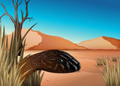 A reptile at the desert — Stock Vector