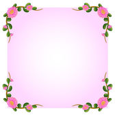 A light pink empty template with flowers — Stock Vector