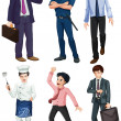 Different professions of men — Stock Vector