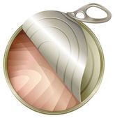 A topview of an open can — Vecteur