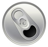 A topview of a beverage can — Vecteur