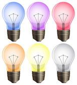 Six light bulbs — Stock Vector