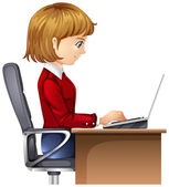 A woman in the office — Stock Vector