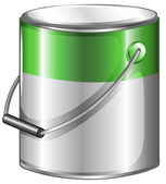 A can of green paint — Stock Vector