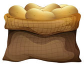 Um saco de batatas — Vetor de Stock