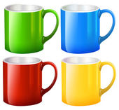 Sets of big mugs — Stock Vector