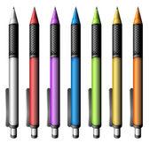 Set of colourful pens — Vector de stock