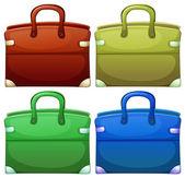 Four handheld bags — Stock Vector