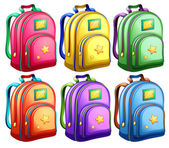 A set of backpacks — Stock Vector
