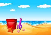 A seashore at the beach — Stock Vector