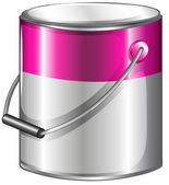 A can of pink paint — Stock Vector