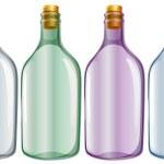 Four glass bottles — Stock Vector #50127745