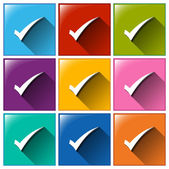 Check mark icons — Stock Vector