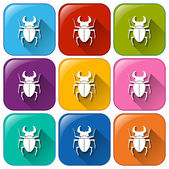 Scorpion icons — Stock Vector
