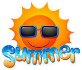 Sommaren solglasögon — Stockvektor