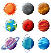 Planets of the solar system — Stock Vector