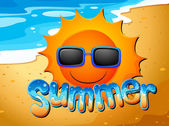 Sommar på stranden — Stockvektor