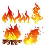 Set of flames — Stock Vector