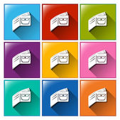 Wallet icons — Stock Vector
