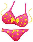 A pink bikini — Stock Vector