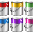 Containers with paint — Stock Vector #50329333