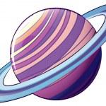 Постер, плакат: A planet with an orbit