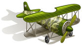 A green vintage plane — Vettoriale Stock