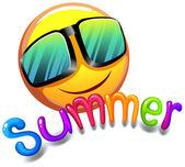 Summer icon — Stock Vector