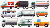 Big vehicles — Stock Vector