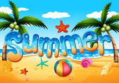 A summer at the beach — Stock Vector