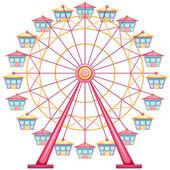 A ferris wheel ride — Stock Vector