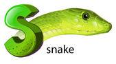 змея и письмо s — Cтоковый вектор