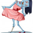 A zombie wearing a dress — Stock Vector #50540545