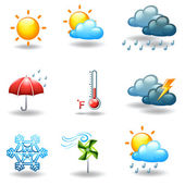 Different weather conditions — Stock Vector