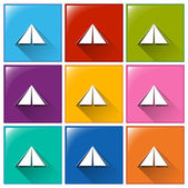 Camping tent icons — Stock Vector