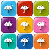 Rainy icons — Stock Vector